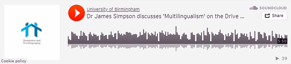 Dr James Simpson discusses 'Multilingualism' on the Drive Time Show on Voice of Islam on 13 July 2017